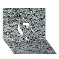 ROUGH GREY STONE Ribbon 3D Greeting Card (7x5)