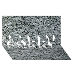 Rough Grey Stone Sorry 3d Greeting Card (8x4)
