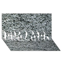 ROUGH GREY STONE ENGAGED 3D Greeting Card (8x4)