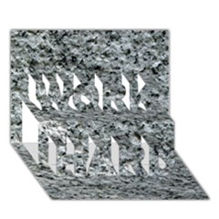 Rough Grey Stone Work Hard 3d Greeting Card (7x5)
