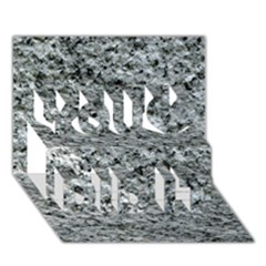 ROUGH GREY STONE You Did It 3D Greeting Card (7x5)