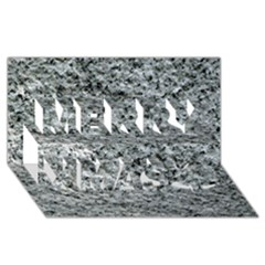 Rough Grey Stone Merry Xmas 3d Greeting Card (8x4)
