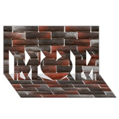 Red And Black Brick Wall Mom 3d Greeting Card (8x4)