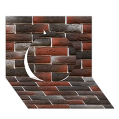 Red And Black Brick Wall Circle 3d Greeting Card (7x5)