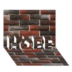 RED AND BLACK BRICK WALL HOPE 3D Greeting Card (7x5)