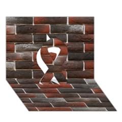Red And Black Brick Wall Ribbon 3d Greeting Card (7x5)