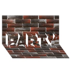 Red And Black Brick Wall Party 3d Greeting Card (8x4)