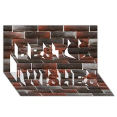Red And Black Brick Wall Best Wish 3d Greeting Card (8x4)