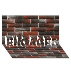 Red And Black Brick Wall Engaged 3d Greeting Card (8x4)