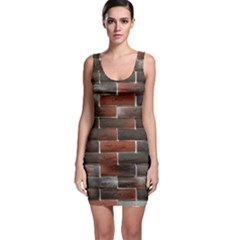 RED AND BLACK BRICK WALL Bodycon Dresses