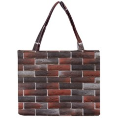 RED AND BLACK BRICK WALL Tiny Tote Bags