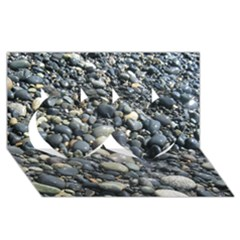 PEBBLES Twin Hearts 3D Greeting Card (8x4)