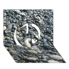 PEBBLES Peace Sign 3D Greeting Card (7x5)