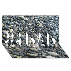 Pebbles #1 Dad 3d Greeting Card (8x4)