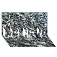 PEBBLES BELIEVE 3D Greeting Card (8x4)