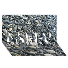 Pebbles Sorry 3d Greeting Card (8x4)