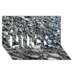 Pebbles Hugs 3d Greeting Card (8x4)