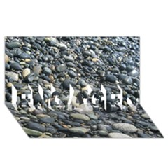 PEBBLES ENGAGED 3D Greeting Card (8x4)