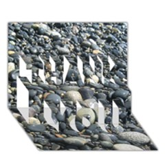 PEBBLES THANK YOU 3D Greeting Card (7x5)