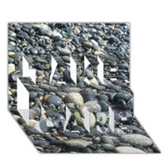 Pebbles Take Care 3d Greeting Card (7x5)