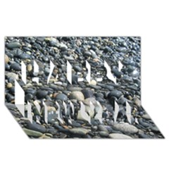 PEBBLES Happy New Year 3D Greeting Card (8x4)