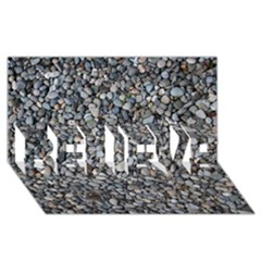 PEBBLE BEACH BELIEVE 3D Greeting Card (8x4)