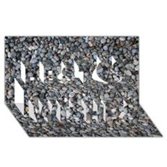 PEBBLE BEACH Best Wish 3D Greeting Card (8x4)