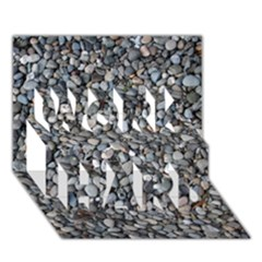 PEBBLE BEACH WORK HARD 3D Greeting Card (7x5)