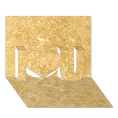 NOCE TRAVERTINE I Love You 3D Greeting Card (7x5)