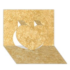 Noce Travertine Heart 3d Greeting Card (7x5)