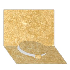 NOCE TRAVERTINE Circle Bottom 3D Greeting Card (7x5)
