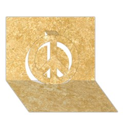 NOCE TRAVERTINE Peace Sign 3D Greeting Card (7x5)
