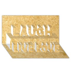 NOCE TRAVERTINE Laugh Live Love 3D Greeting Card (8x4)