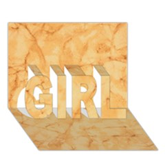 Marble Light Tan Girl 3d Greeting Card (7x5)