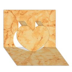 MARBLE LIGHT TAN Heart 3D Greeting Card (7x5)