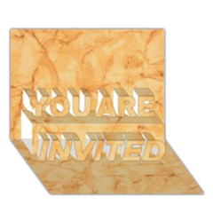 Marble Light Tan You Are Invited 3d Greeting Card (7x5)