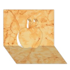 MARBLE LIGHT TAN Apple 3D Greeting Card (7x5)