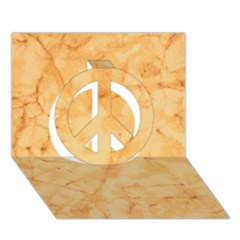 Marble Light Tan Peace Sign 3d Greeting Card (7x5)