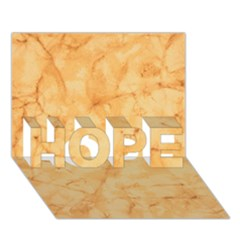 Marble Light Tan Hope 3d Greeting Card (7x5)