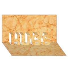 Marble Light Tan Hugs 3d Greeting Card (8x4)