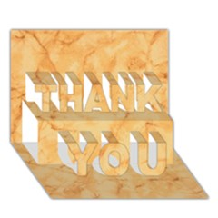 MARBLE LIGHT TAN THANK YOU 3D Greeting Card (7x5)