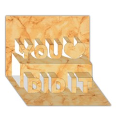 MARBLE LIGHT TAN You Did It 3D Greeting Card (7x5)