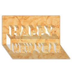 MARBLE LIGHT TAN Happy New Year 3D Greeting Card (8x4)