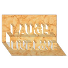 MARBLE LIGHT TAN Laugh Live Love 3D Greeting Card (8x4)