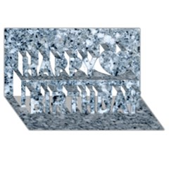MARBLE LIGHT GREY Happy Birthday 3D Greeting Card (8x4)