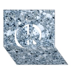 MARBLE LIGHT GREY Peace Sign 3D Greeting Card (7x5)