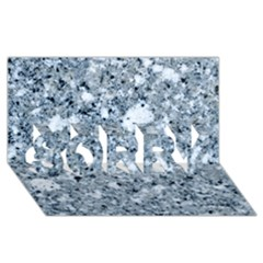 Marble Light Grey Sorry 3d Greeting Card (8x4)