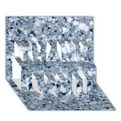 Marble Light Grey Thank You 3d Greeting Card (7x5)