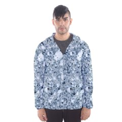 Marble Light Grey Hooded Wind Breaker (men)