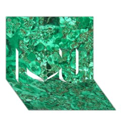 Marble Green I Love You 3d Greeting Card (7x5)